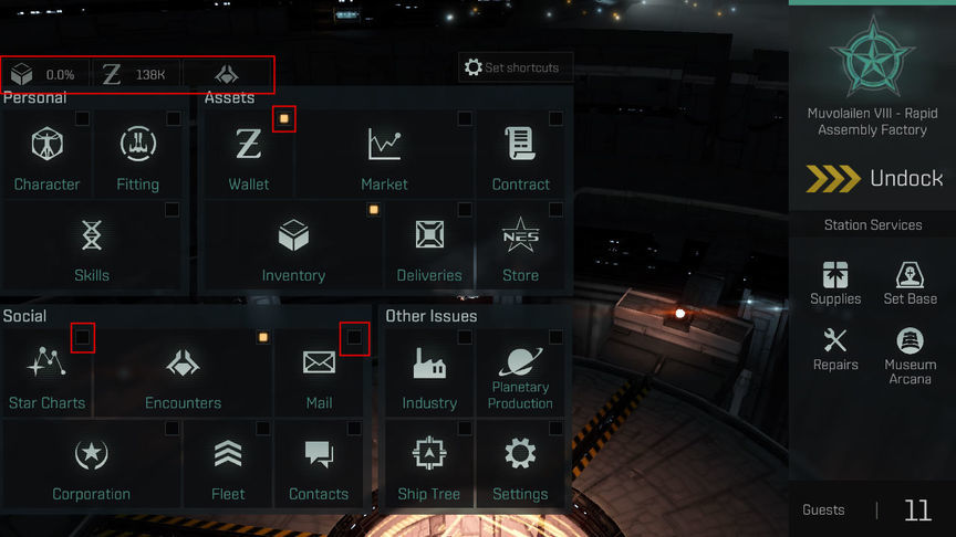 Eve Echoes Game interface settings