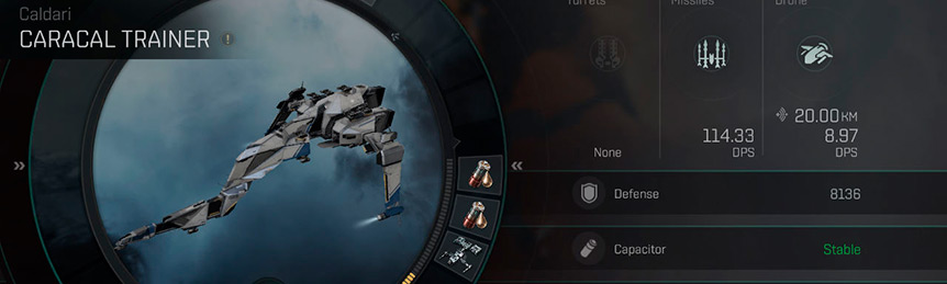 Eve Echoes Caracal Fit Ship Recommended Fittings