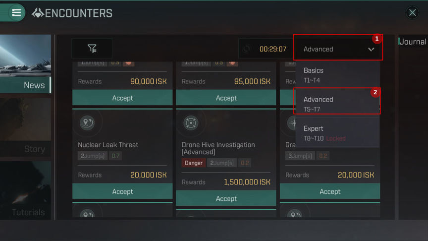 Eve Echoes How to complete challenging T5-T7 missions