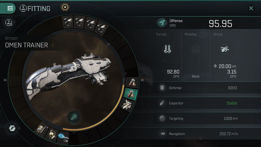 Eve Echoes Omen Fit Ship Recommended Fittings