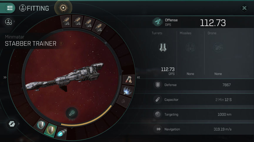 Eve Echoes Stabber Fit Ship Recommended Fittings