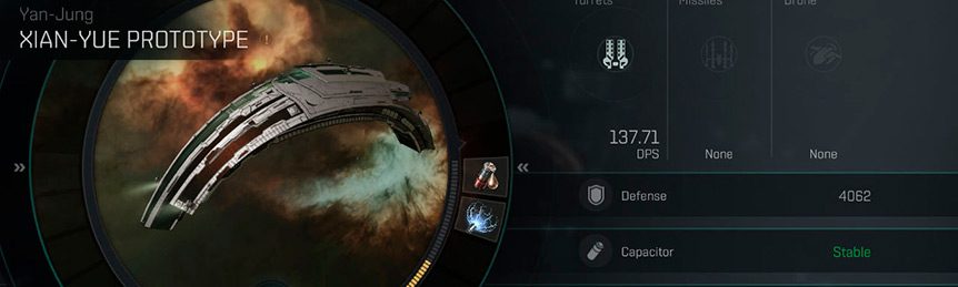 Eve Echoes Xian-Yue Fit Ship Recommended Fittings