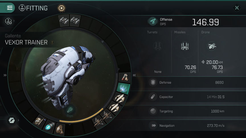 Eve Echoes Vexor Fit Ship Recommended Fittings