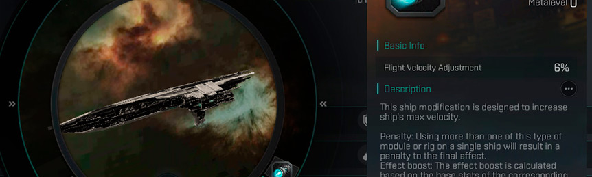 Eve Echoes guide on penalties for modules and rig of the same type