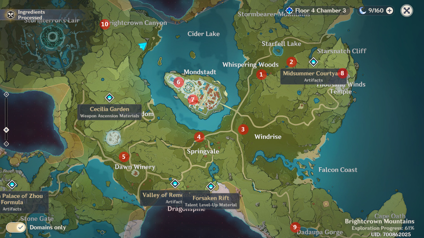 Genshin Impact Archive Geography Mondstadt