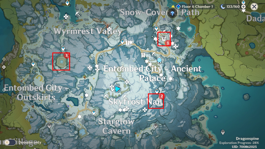 Genshin Impact Quest In the Mountains Thaw all the shards out Peak of Vindagnyr