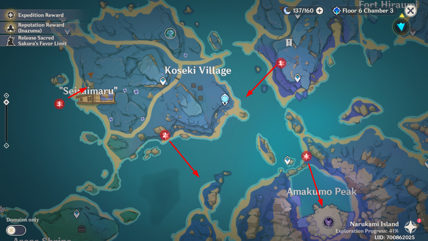 Genshin Impact 2.1 Reminiscence of Seirai Go to Seirai Island and take pictures