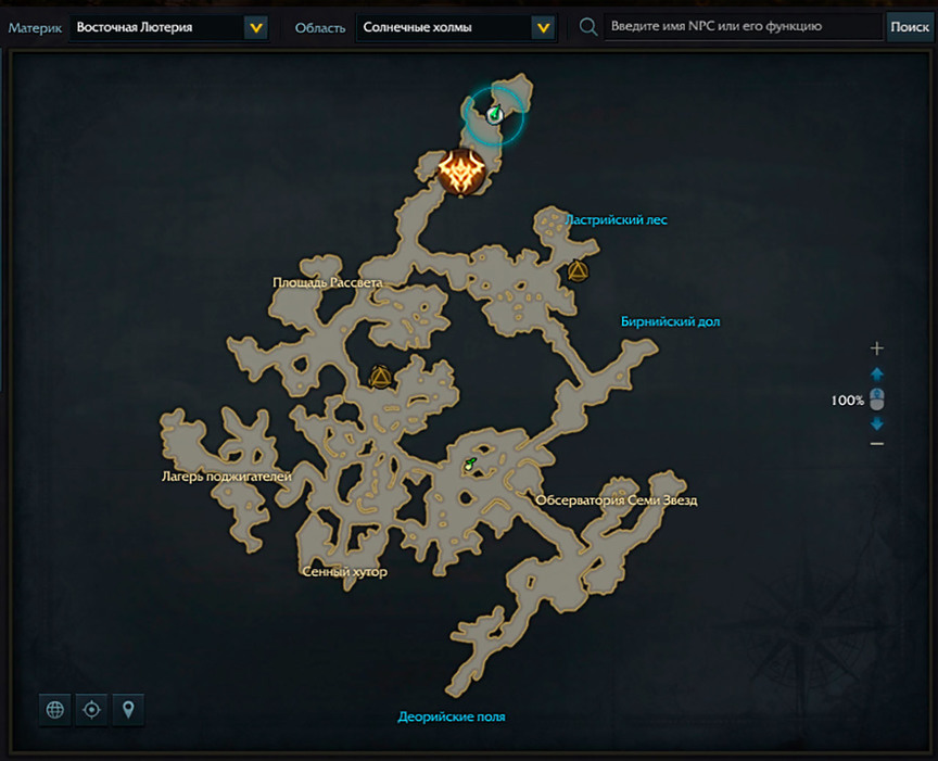 Lost Ark Tykvert location on the map