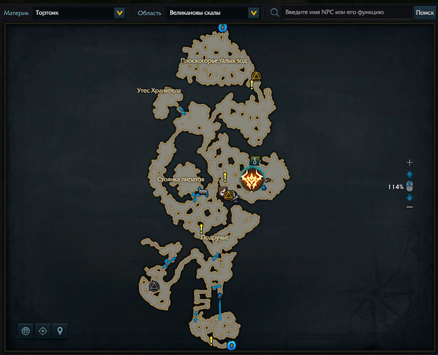 Lost Ark Kasfael location on the map