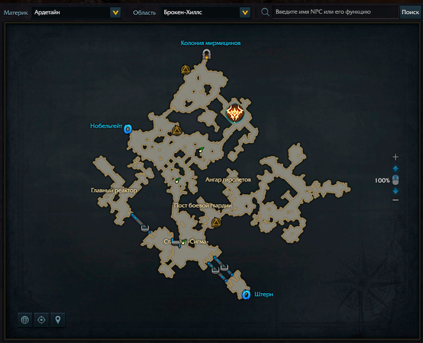 Lost Ark location VLZ-VUL project on the map