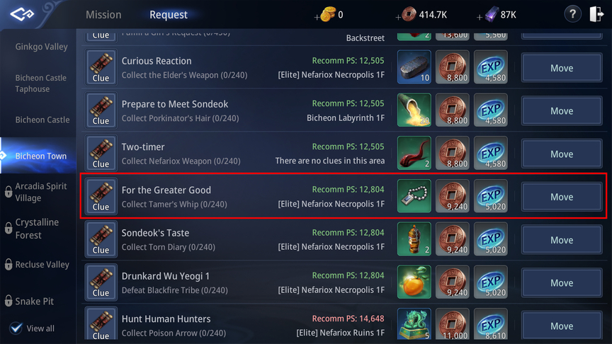 Mir4 Mystery Quest Locations Nefariox Hirn