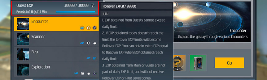 Second Galaxy Daily Experience Limit