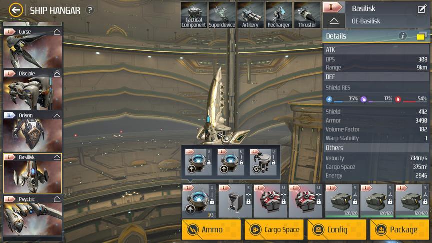 Second Galaxy Ship building Basilisk (Destroyer)