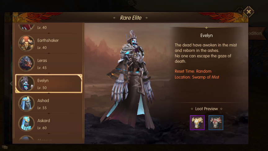 Evelyn Rare Elite World of Kings